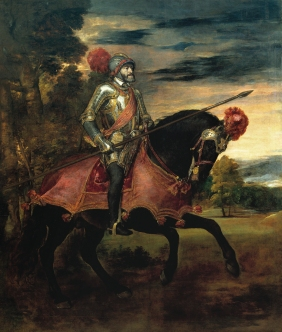 Tiziano: Carlos V después de la batalla de Mühlberg, 1548. Madrid. Museo del Prado