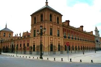 Vista actual del Palacio de San Telmo de Sevilla. Wikimedia Commons.