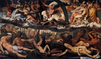 Perino del Vaga: Gigantomaquia. Fresco. Palazzo Fassolo. Génova.