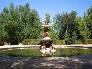 Vista actual de la fuente de la taza en el Palacio de La Granja de San Ildefonso.