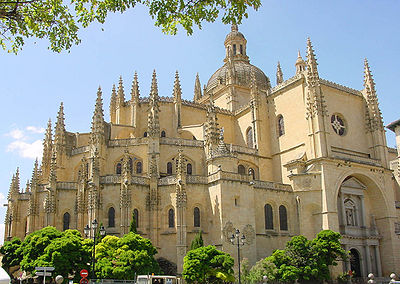 Vista actual de la Catedral de Segovia. Wikimedia Commons.