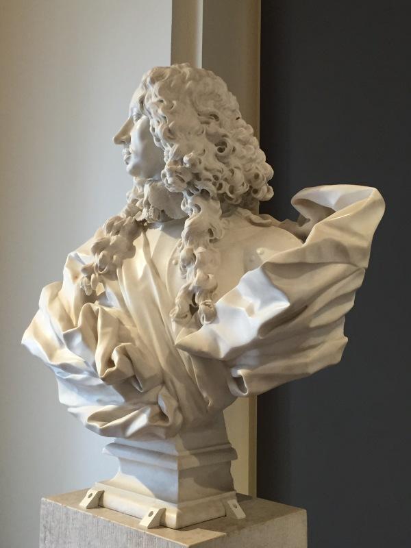 Gian Lorenzo Bernini: Perfíl del busto del duque Francesco I d'Este, 1651. Galleria Estense, Módena.