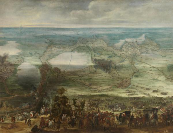 Peter Snayers: Isabel Clara Eugenia en el Sitio de Breda. Madrid, Museo Nacional del Prado.