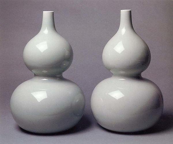 Pareja de botellas en forma de calabaza, siglo XVIII. Metropolitan Museum New York.