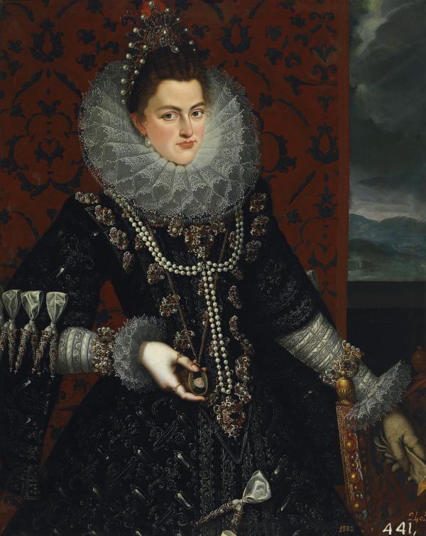 Juan Pantoja de la Cruz: Retrato de Isabel Clara Eugenia, h. 1598. Madrid, Museo Nacional del Prado.
