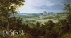 Jan Brueghel el viejo: Los Archiduques de caza. Madrid, Museo Nacional del Prado.