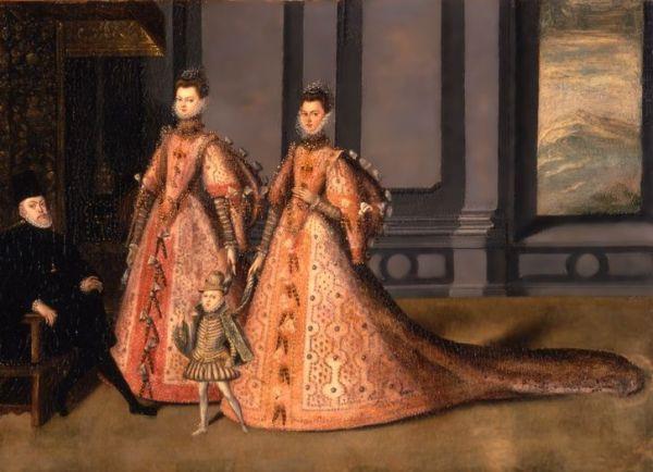 Anónimo: Las hijas de Felipe II, sus hijas y el heredero al trono. Nueva York, Hispanic Society.