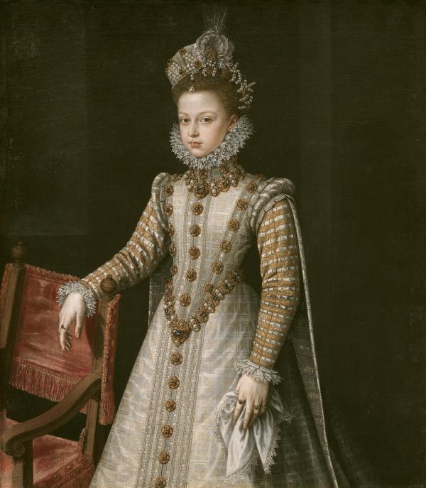 Alonso Sánchez Coello: Retrato de Isabel Clara Eugenia, h. 1570. Madrid, Museo Nacional del Prado.