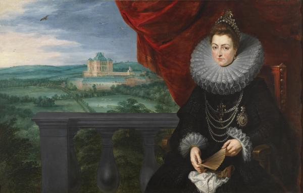 Pedro Pablo Rubens y Jan Brueghel el viejo: La Archiduquesa Isabel Clara Eugenia. Madrid, Museo Nacional del Prado.