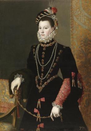 Juan Pantoja de la Cruz: Retrato de Isabel de Valois. Madrid, Museo Nacional del Prado.