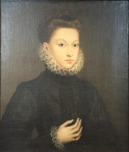 Sofonisba Anguissola, atribuido a: Retrato de Isabel Clara Eugenia con unos 10 años de edad. Turín, Galleria Sabauda.