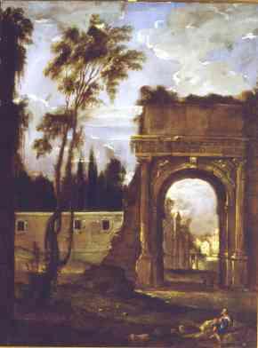 Benito Manuel de Agüero: El Arco de Tito en Roma. Madrid, Museo Nacional del Prado.