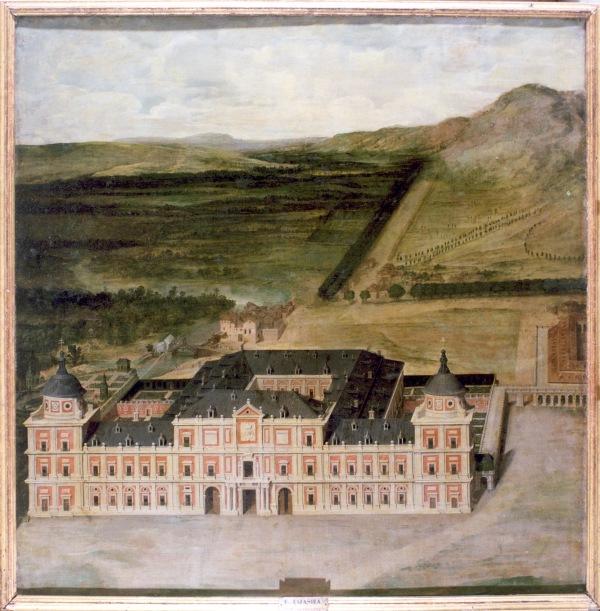Anónimo: Maqueta pintada del proyecto de Juan Gómez de Mora para el Palacio de Aranjuez, ca. 1636. Madrid, Patrimonio Nacional.