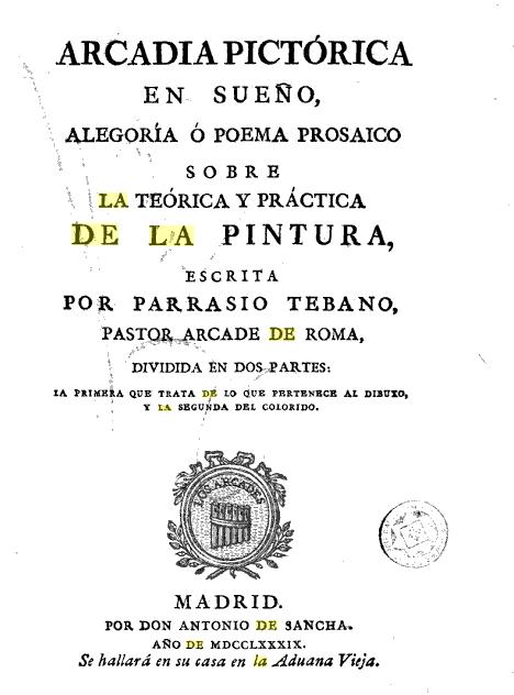 Francisco Preciado de la Vega: Arcadia Pictórica.