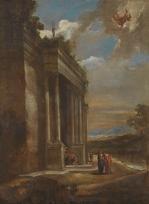 Benito Manuel de Agüero: Paisaje con Mercurio y Herse. Madrid, Museo Nacional del Prado.