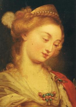 Catherina Cherubini: Santa Catalina de Alejandría. Colección particular.