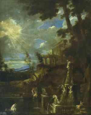 Benito Manuel de Agüero: El baño de Diana. Madrid, Patrimonio Nacional.