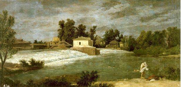 Michel-Ange Houasse: El Palacio y los Jardines de la Isla desde el Tajo, 1720-1724. Madrid, Patrimonio Nacional.