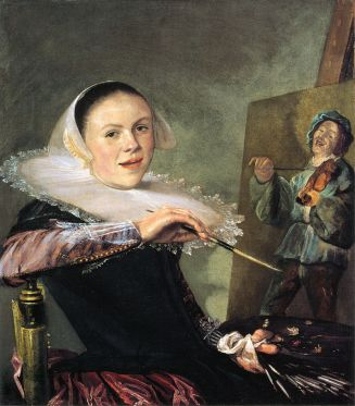 Judith Leyster: Autorretrato, 1630. National Gallery of Washington.