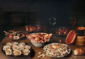 Osias Beert I: Naturaleza muerta con ostras. Museo Real de Bellas Artes de Bélgica. Bruselas.