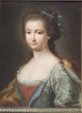 1.Anton Von Maron, Retrato de Catherina Cherubini, Roma, Academia de San Luca de Roma.