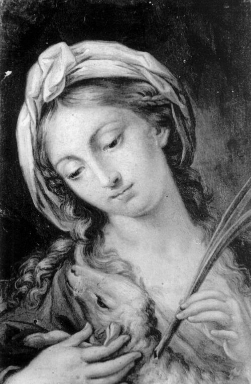 Catherina Cherubini: Santa Inés. Madrid, Museo Nacional del Prado.