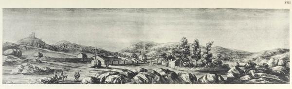 Pier María Baldi: Vista de Torrelodones, siglo XVII.