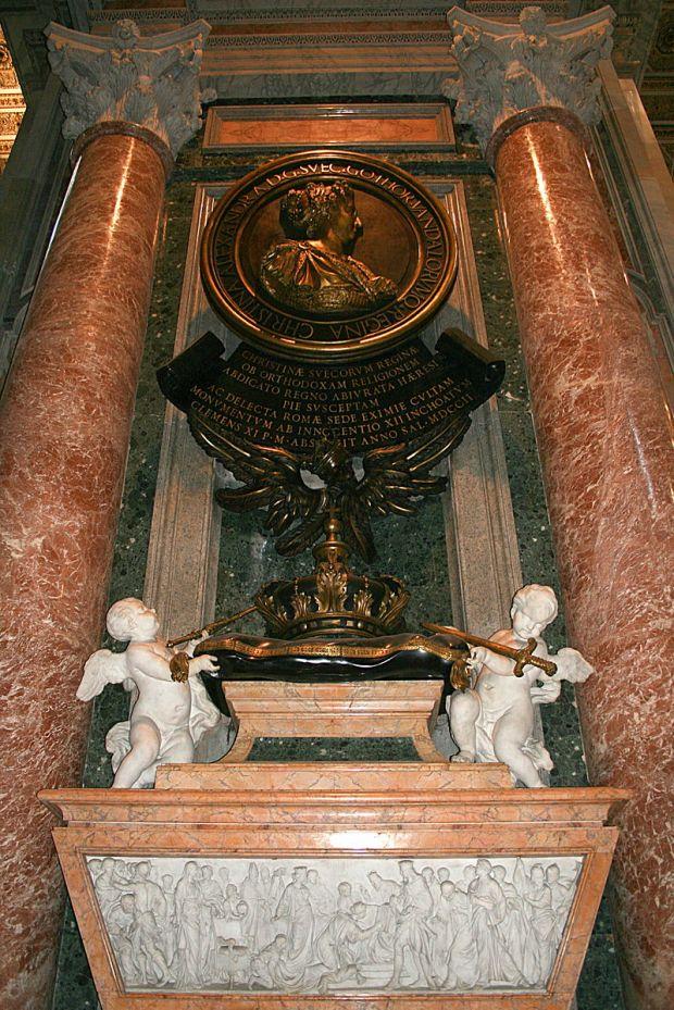 Carlo Fontana: Monumento funerario de la Reina Cristina de Suecia. Roma, Basílica de San Pedro del Vaticano.