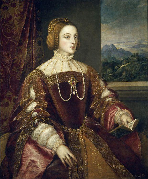 Tiziano: La emperatriz Isabel de Portugal. Madrid, Museo Nacional del Prado.