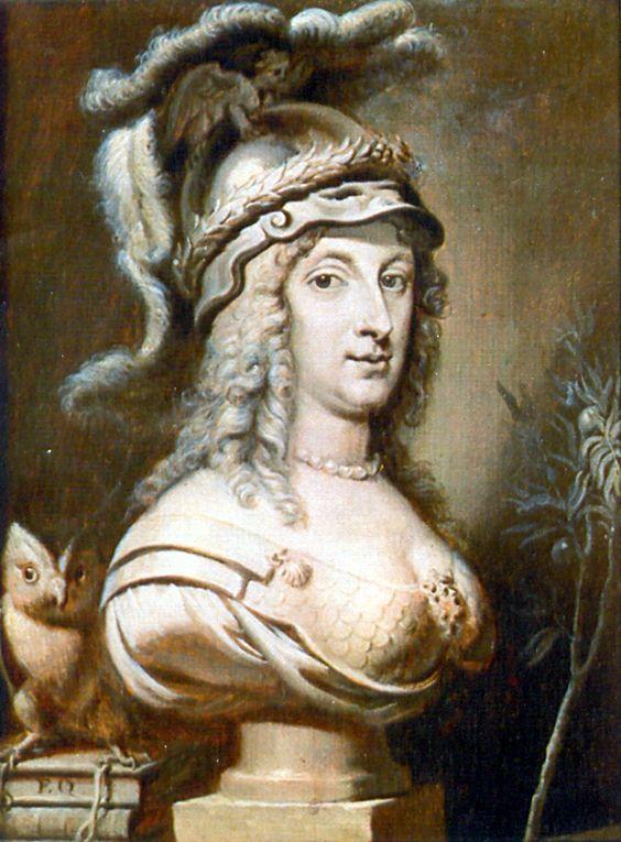 Anónimo: La reina Cristina de Suecia como Minerva, ca. 1660.