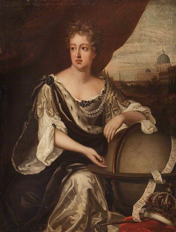 Michael Dahl?: La reina Cristina de Suecia en Roma. (c) National Trust, Attingham Park.