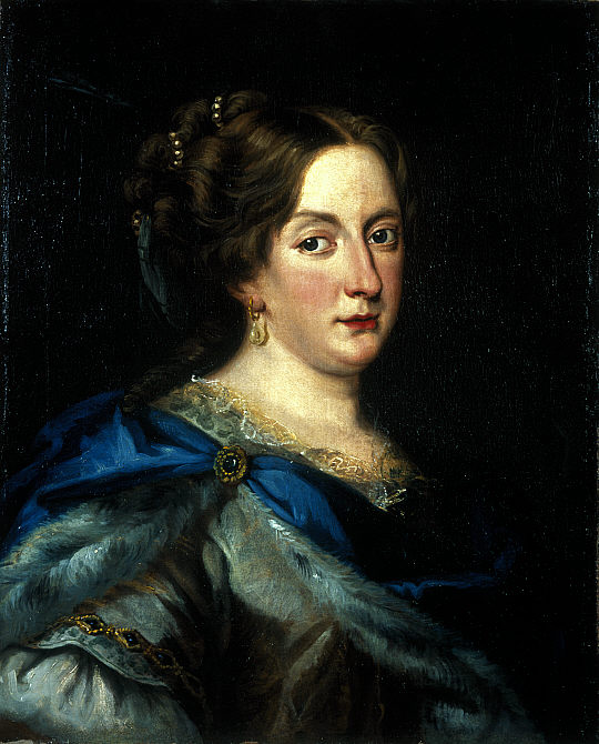 Jacob Ferdinand Voet: Retrato de la reina Cristina de Suecia, ca. 1670-1675.