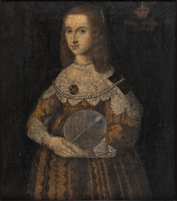 Anónimo: La reina Cristina de Suecia con 20 años, 1646.
