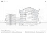 Sección del museo Guggenheim de Nueva York en el que se aprecia su distribución interior en espiral.