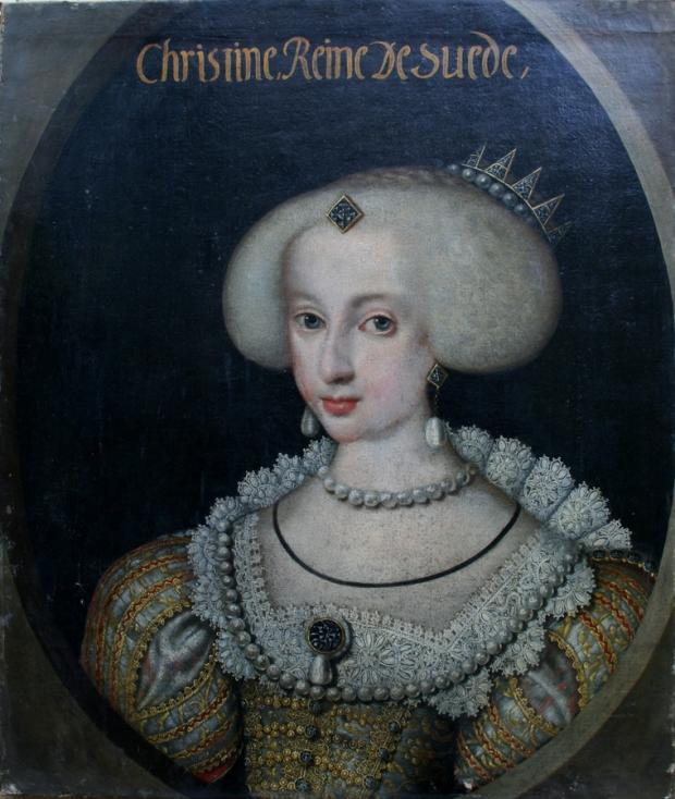 Anónimo: La reina Cristina de Suecia a los 16 años de edad, 1642.