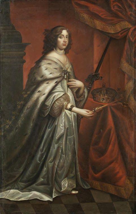 David Beck, copia del retrato de: Retrato de Cristina de Suecia como Reina, ca. 1650.