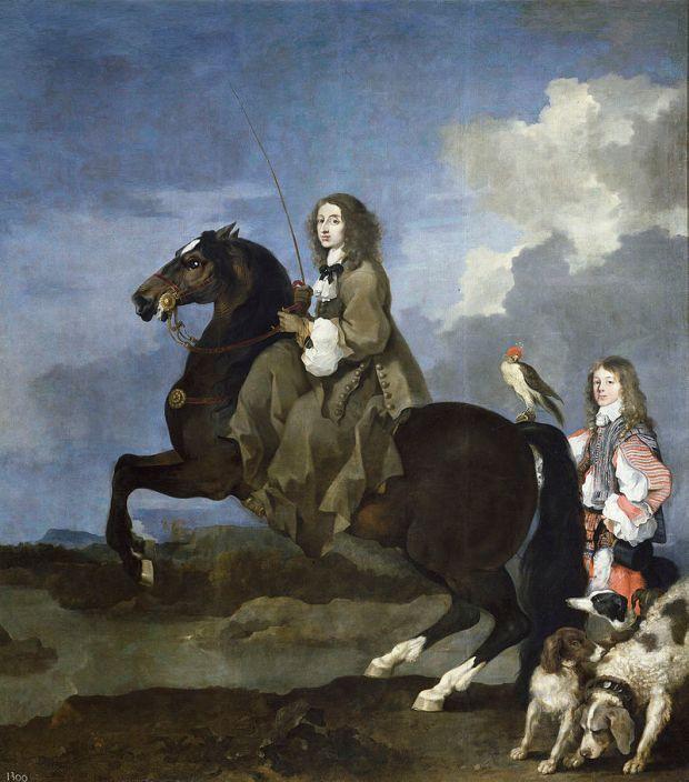 Sébastien Bourdon: La reina Cristina de Suecia a caballo, ca. 1653-1654. Madrid, Museo Nacional del Prado.