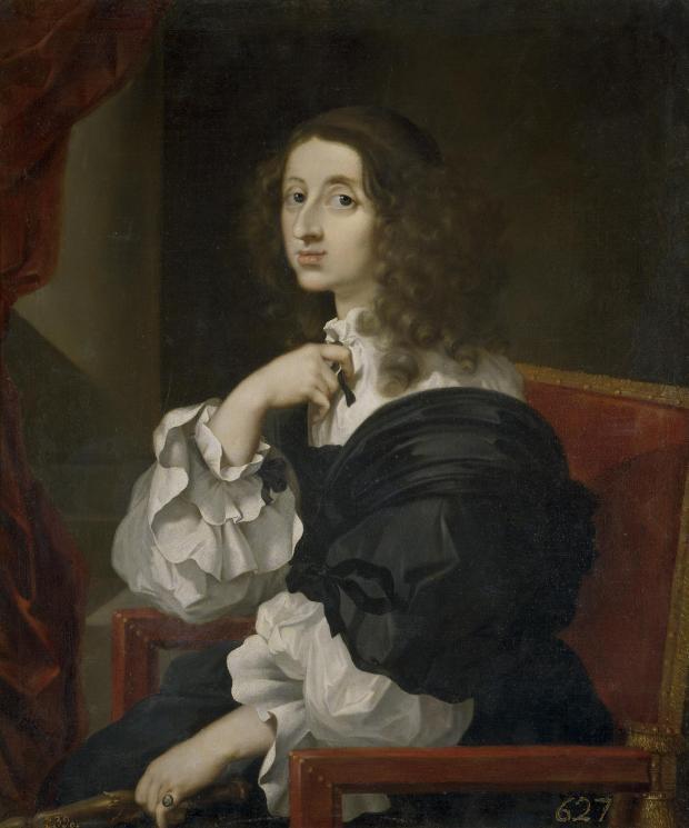 Sebastián Bourdon: Retrato de la Reina Cristina de Suecia, ca. 1653. Madrid, Museo Nacional del Prado.
