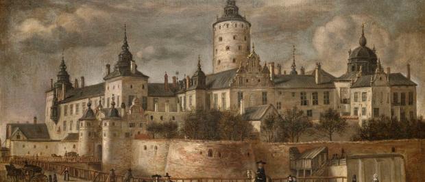 Govert Dircksz Camphuysen: Vista del castillo de Tre Kronor en Estocolmo.
