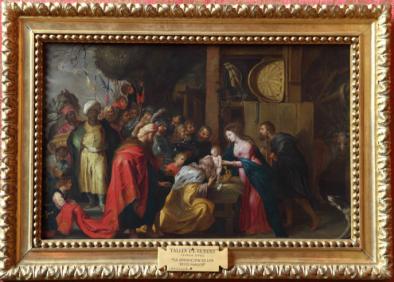 Taller de Rubens: Adoración de los Reyes Magos. Patrimonio Nacional.