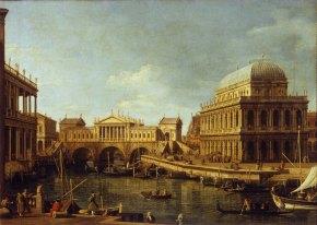 Antonio Canaletto. Fantasía palladiana. 1756-59. Galleria Nazionale Parma.