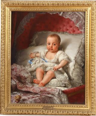 Anton Rafael Mengs: Retrato de la Infanta Carlota Joaquina. Patrimonio Nacional.