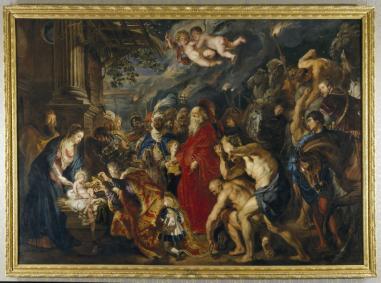 Pedro Pablo Rubens: Adoración de los Reyes. Museo Nacional del Prado.