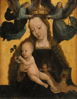 Gerard David: La Virgen con el Niño y dos ángeles que la coronan, ca. 1520. Museo Nacional del Prado, Madrid.