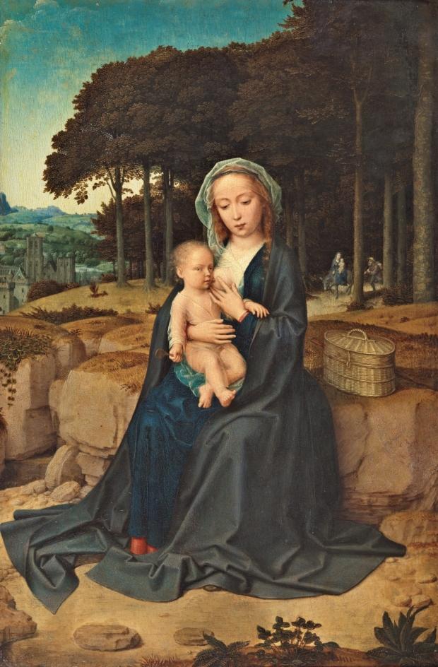 Gerard David: Descanso en la Huida a Egipto, ca. 1515. Museo Nacional del Prado, Madrid.