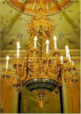 F.L. Godon: Reloj lámpara. Patrimonio Nacional, Madrid.