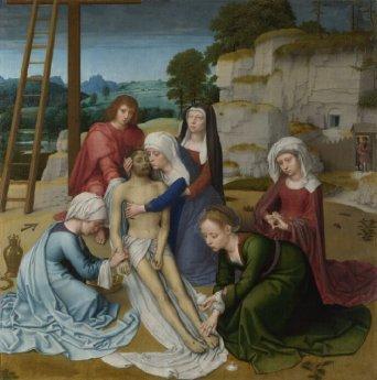 Gerard David: Lamentación sobre Cristo muerto, 1515-1523. National Gallery, Londres.