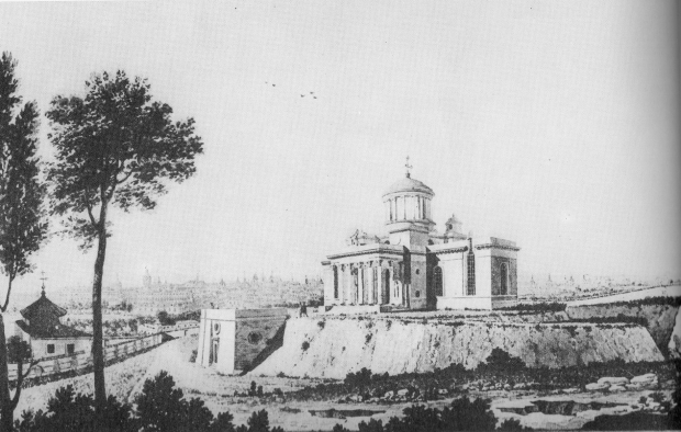 El Observatorio de Villanueva presidiendo el cerrillo de San Blas.