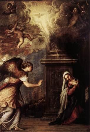 Tiziano: Anunciación. Museo de Capodimonte. Nápoles