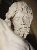 Benvenuto Cellini. Cristo Crucificado (detalle del rostro). ca. 1556-1562.